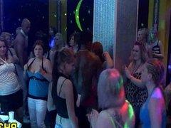 Group sex wild patty at night club