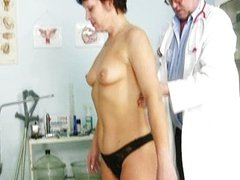Mature woman Eva visits gyno doctor