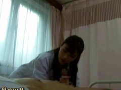 Asian woman doctor visiting patient