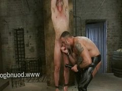 Trent showers his load all over the room