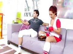 Kylee Strutt fucks her baseball trainer