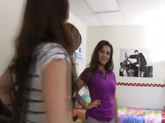 Teen college lesbian oral intiation