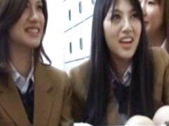 Uniformed asian gets hot fingered