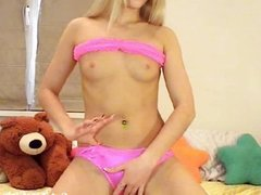 fingering her pussy with her fingers(1).