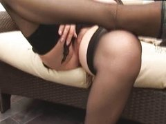 Big tits hairy mature striptease