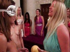 Sorority Girls  Lesbian Kissing
