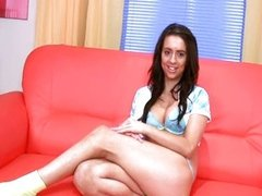 brunette with luxury thin vagina