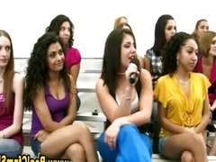Cfnm girls on the stands