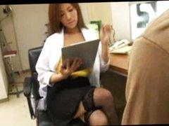 Asian nurse handjob in doctors office