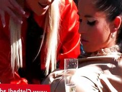 Three eager thirsty lesbians get hot