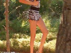 Watch brunette czechian in shoes peeing