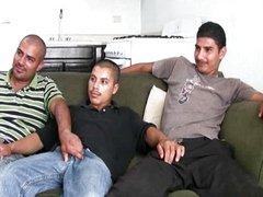 Hot 3some with hot bi latin men with big uncu