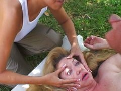 Hot mature gets it in her eyes