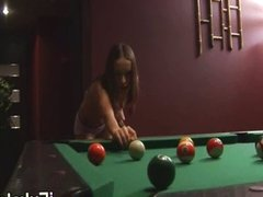 ivana penetrate on pool table