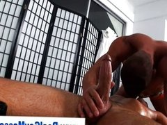 Straight guy gets his dick sucked by hunk