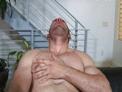 Stud Eric Rollins masturbates hot dick