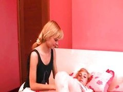 two sexy lesbians with luxury vibrator
