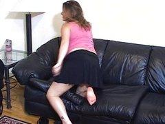 Poor sissy boy endures endless back whipping