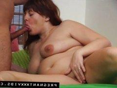 Horny preggo sucks big cock