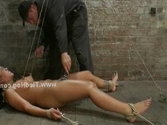 Sex slave in bondage sex
