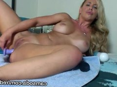 super hot blonde orgasms with dildo in ass