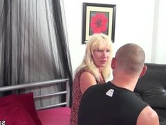 Step-Mother Seduce Step-Son to Fuck