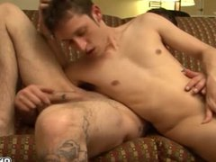 Raw gay blowjob and anal stuffing bareback