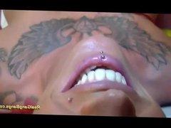 Busty tattooed loves gangabang
