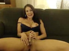 Busty MILF Dildoing Pussy & Fingering Ass