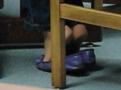 Purple Sam & Libby Ballet Flats Shoeplay