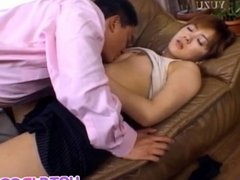Michiru Tamaki has dark nipples sucked and ge