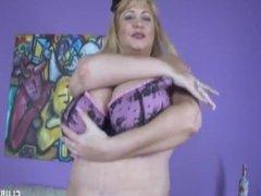 Huge tits handjob