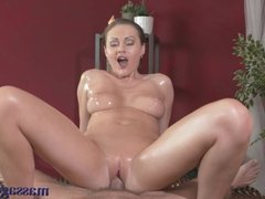 Massage Rooms Beautiful nympho gets creampied