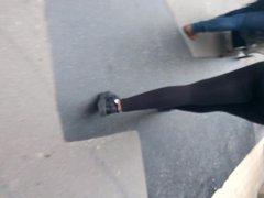 Cul de black en leggings transparent