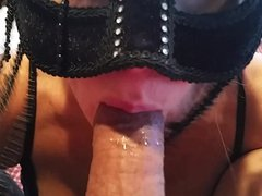 CUM IN MOUTH RUB ON BREASTS