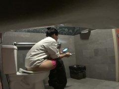 Cook Smokes on Toilet