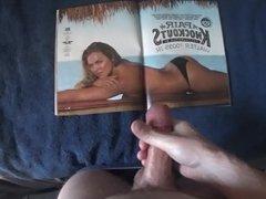 Cumming on Ronda Rousey's Ass