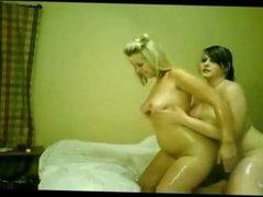 2 Chubby plumper Lesbian Teens having fun