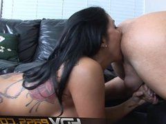 Tattooed MILF Sienna West Licks Ass For Cum