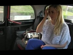 taxi driver gets his passenger to flash her boobs and ass