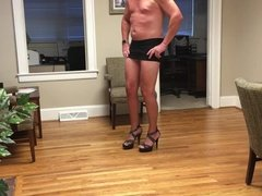 Sexy CD from NC in my heels and thong.