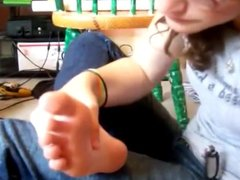 Amateur teen Self Foot Worship