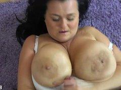 My member fucks my tits