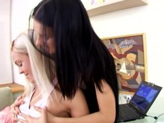 Sapphicerotica teens enjoy first lesbian sex