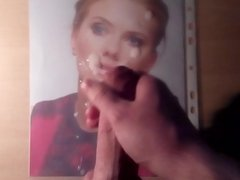 Cum Tribute on Scarlett Johansson