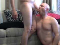 Gay Mike Karacson gives blowjob sucks cock