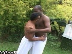 Horny Black Gay Having Outdoor Sex