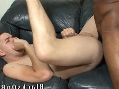 Aaron Tyler Gets A Black Cock Slid In His Ass