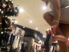 turkish milf upskirt at shopping