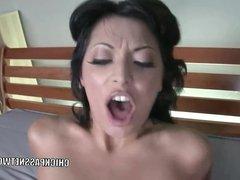 Brunette slut Audrianna Angel gets her Latina twat stuffed